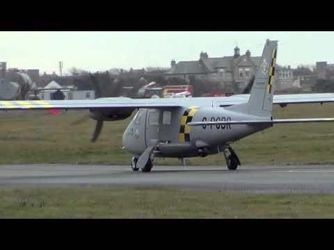 G-PGBR VulcanAir Partenavia P.68 Observer 2 @ Blackpool Airport