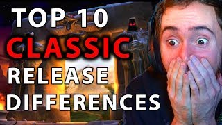 Asmongold Reacts To Top 10 Differences Between WoW Classic & Original Release