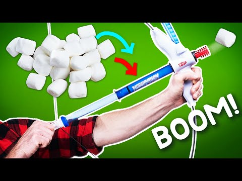 Shoot Marshmallows 30 feet with the Bow and Mallow Toy!