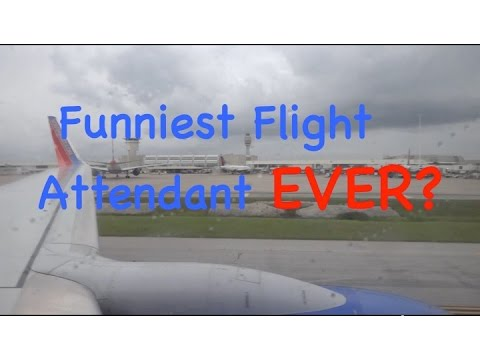 southwest Airlines landing in Orlando with hilarious flight attendant