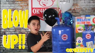 Blow up Balloons with Unique Helium Balloon Tank ok4kidstv video 252