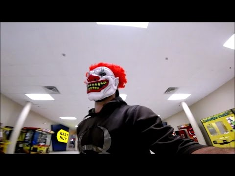 KILLER CLOWN PRANK! GONE WRONG (COPS CALLED) RUNNING FROM MALL SECURITY!
