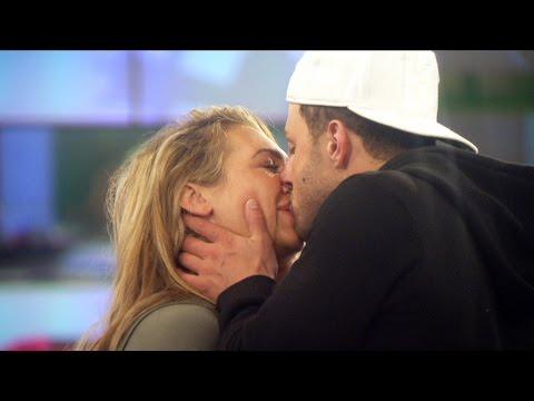 CBB: Lauren Goodger and Ricci Guarnaccio awkward kissing