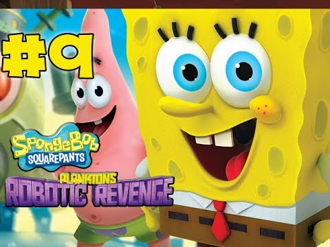 Spongebob Squarepants Plankton's Robotic Revenge - Gameplay Walkthrough - Part 9 - Krabs! (hd) video