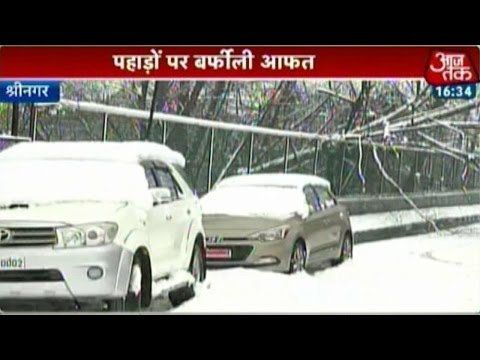 Untimely Snowfall Brings Trouble In Kashmir, Himachal, Uttarakhand