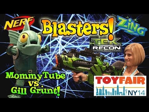 BLASTER TIME at the NY TOY FAIR! Nerf. Tek Recon. Zing. Poppers. Super Soaker! 2014