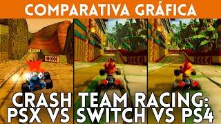 CRASH TEAM RACING COMPARATIVA GRÁFICA: PSX (1999) vs Nintendo Switch y PS4 (remake 2019)