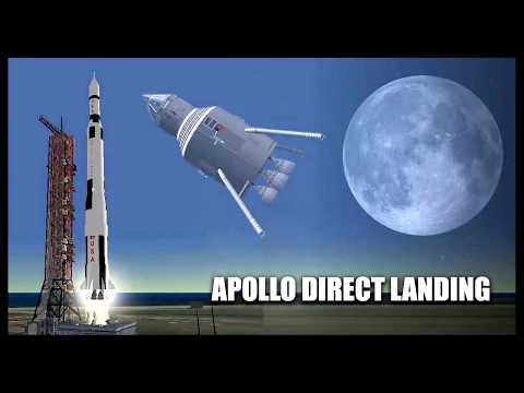 Apollo direct landing - Orbiter Space Flight Simulator 2010