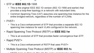 2.2 Varieties of Spanning Tree Protocols - CCNA 3 - Chapter 2