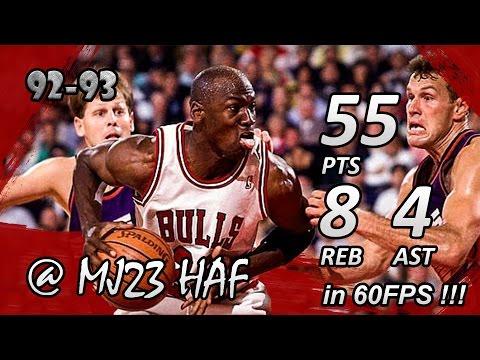 Michael Jordan Finals Career High Highlights 1993 Finals G4 vs Suns - 55pts! (HD 720p 60fps)