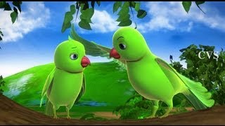 Amma 3D - Chitti Chilakamma - Parrots 3D Animation Telugu Rhymes For children with lyrics