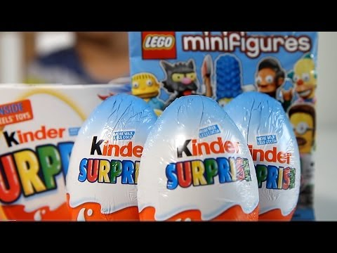 3pac of Kinder Surprise Hot Wheels Cars and Cool Lego The Simpsons Minifigure