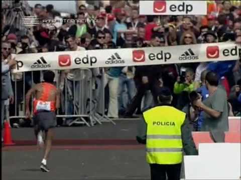 Zersenay Tadese Eritrea 58:23 WR in Lisbon