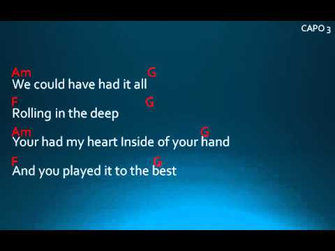 Rolling in the deep Lyrics and chords