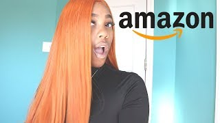 CHEAP ORANGE WIG FROM AMAZON !!!