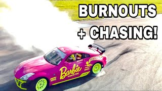 BURNOUTS, CHASING AND DRIFTING ADAMS CHASER!