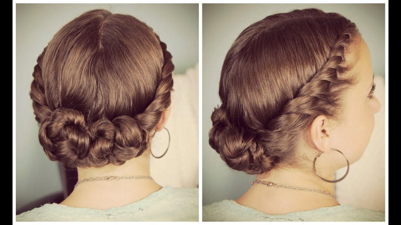 Double-Twist Bun Updo - YouTube