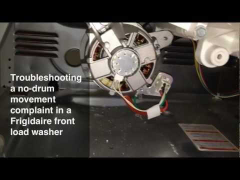 Fixing A No-Drum Movement Problem In A Frigidaire Front-Load Washing Machine