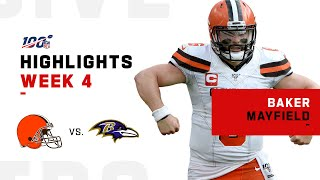 Baker Mayfield Comes Up Big w/ 341 Yds  | NFL 2019 Highlights