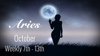 ARIES WEEKLY OCT 7th - 13th | LET GO. THEY'LL COME RUNNING BACK! - Aries Tarot Love Reading
