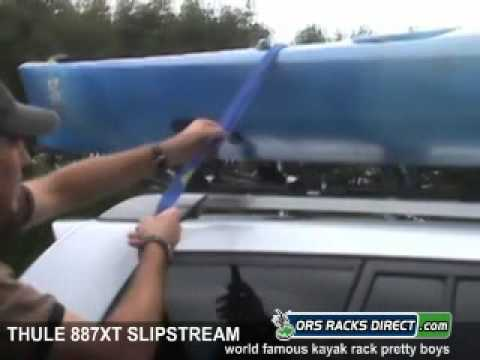 Thule 887XT SlipStream XT Kayak Rack Review Video & Demonstration
