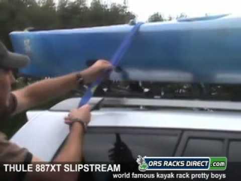 Thule 887XT SlipStream XT Kayak Rack Review Video & Demonstration