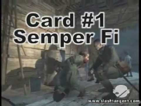 Call of Duty 5 Death Card Locations