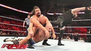 Cesaro vs. Kevin Owens vs. Rusev - Winner Faces John Cena for the U.S. Championship: Raw, July 13, 2