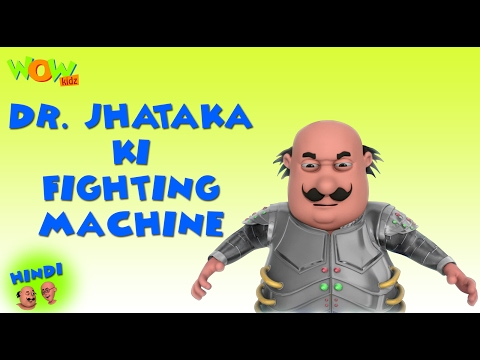 Dr Jhatka Ki Fighting Machine - Motu Patlu in Hindi - 3D Animation Cartoon for Kids HD thumbnail
