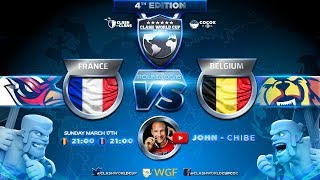 🔴 FRANCE vs BELGIQUE | 8e DE FINALE COUPE DU MONDE CLASH OF CLANS | CWC