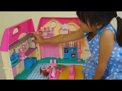 รีวิว บ้านบาร์บี้  แกะ บ้าน ของเล่น ตุ๊กตา ที่ป้าส่งมาให้ สนุกแบบเด็กๆๆ [ WANSAI KIDS THAILAND ]