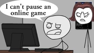 How to explain MOM that online games can't be paused