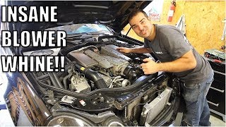 """My E55 AMG Finally Broke So I Added More Boost, Blower Whine & Power! """"While I Was In There."""""""