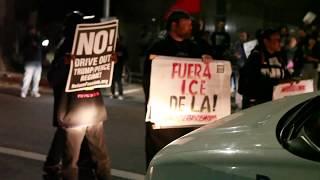 Immigrant Rights Activists Block Homeland Security Van