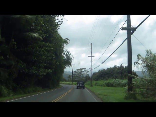 Road to Hanelei Bay, Kauai Hawaii