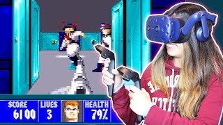 BACK TO THE FUTURE! - Let's Play Wolfenstein 3D VR Live (HTC Vive)