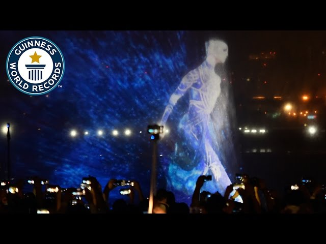 Largest water screen projection - Guinness World Records
