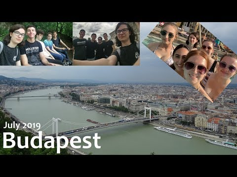 Showing my friends around Budapest!