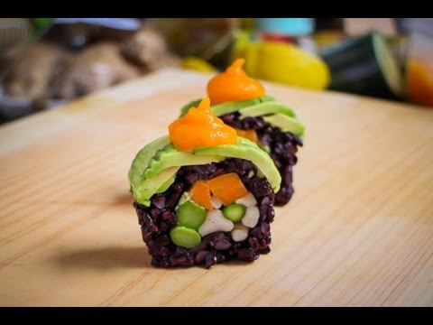 Vegan sushi roll recipe - amazing vegan food recipe