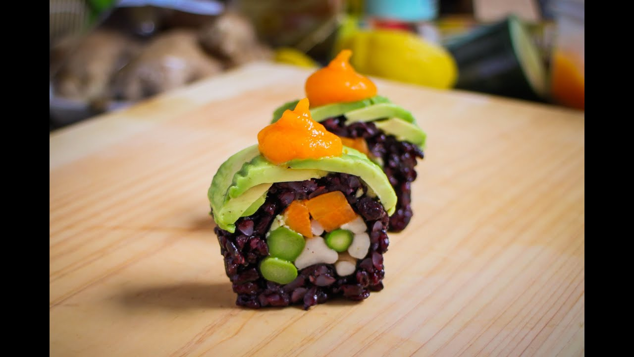 Vegan Sushi Roll Recipe - Amazing Vegan Food Recipe - YouTube