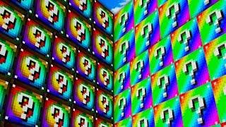 BRAND NEW MAP! SPIRAL VS RAINBOW LUCKY BLOCK WALLS 2.0! - MINECRAFT MODDED MINIGAME