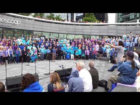 Sing for Water.  The Scoop, Thames Fest. 2014 5/5