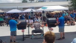 NO SUIT Tom Stoltman 340kg Squat lift for reps - World's Strongest Man 2019 FINAL