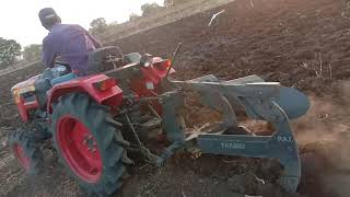 Mahindra jivo tractor ploughing Kurhad Khurd
