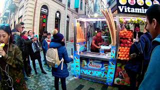 Ice Cream Seller in Istanbul Free Stock Video HD