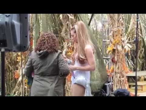 Ginger Zee as Ariana Grande on Good Morning America 2014 Halloween Party