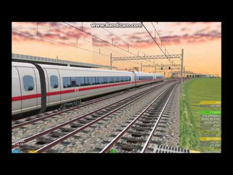 OpenBVE HD: Siemens CNR Corporation CRH380BL Development Showcase (Temporary DB Paint Scheme)