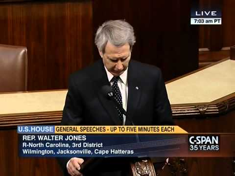 Rep. Walter Jones Talks about Wasteful Spending in Afghanistan