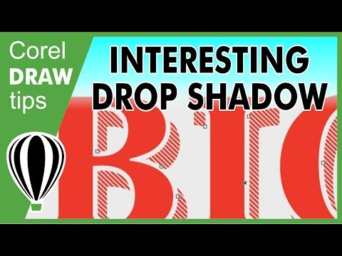 Creating an interesting text drop shadow in CorelDraw