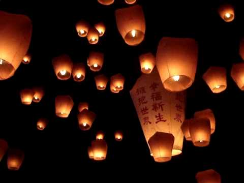 Taiwan Sky Lantern Festival 2010 at Pingxi